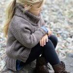 Свитер для девочки спицами: лучшие модели схемы