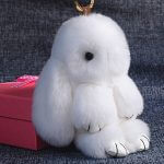 Брелок кролик из меха — мастер класс