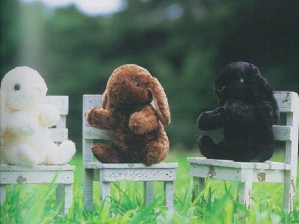 Кролик-брелок из меха своими руками - выкройка, мк