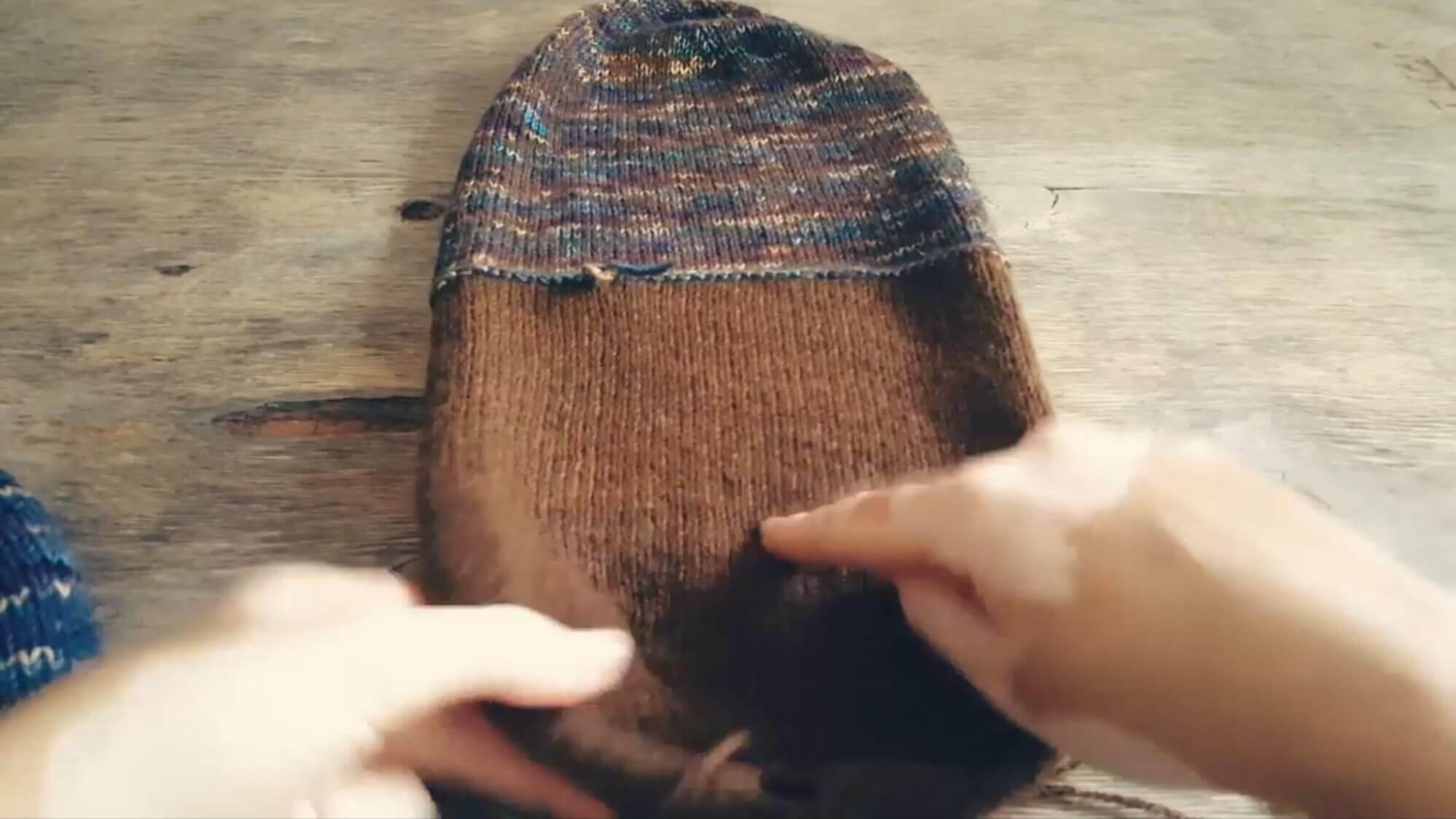 Двухслойная шапка бини - мастер-класс пошагово