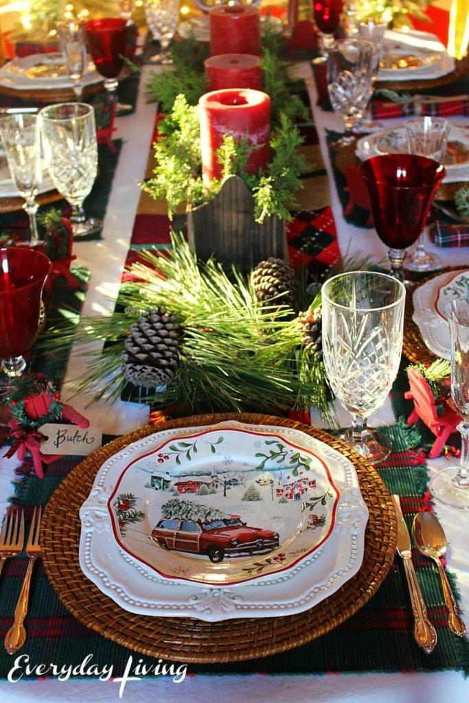 Модная сервировка новогоднего стола