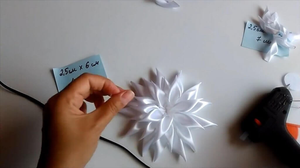 Белая астра на ободке - мастер-класс (пошагово)