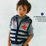 Жилет для мальчика спицами — схемы с бесплатным переводом!