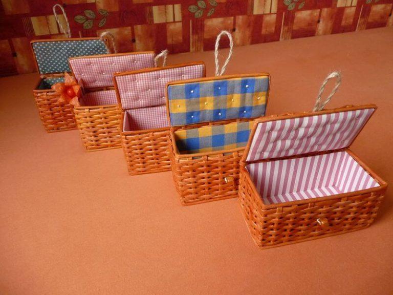 Плетение коробки из бумаги своими руками 66