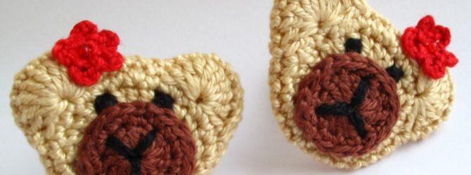Детские резинки для волос крючком