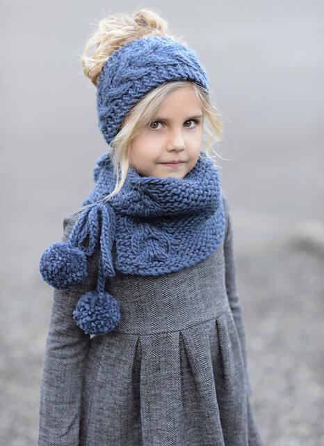 связать повязку на голову для девочки спицами