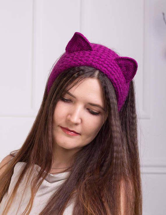Повязка Кошка с ушками - мастер-класс пошагово