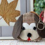 Собачка — ключница из ткани своими руками, выкройка и мастер-класс