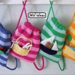 Связать детскую сумочку и рюкзак спицами - схемы и описание