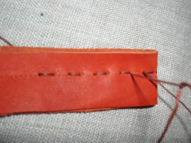 Ключница из кожи - мк для начинающих