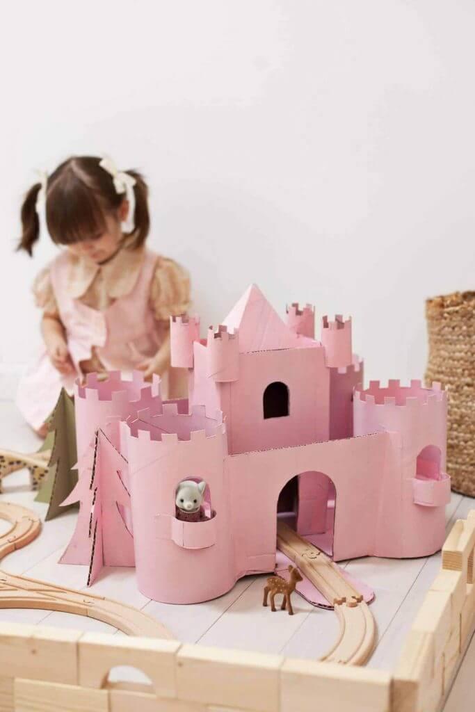 Королевский замок из картона - мастер-класс