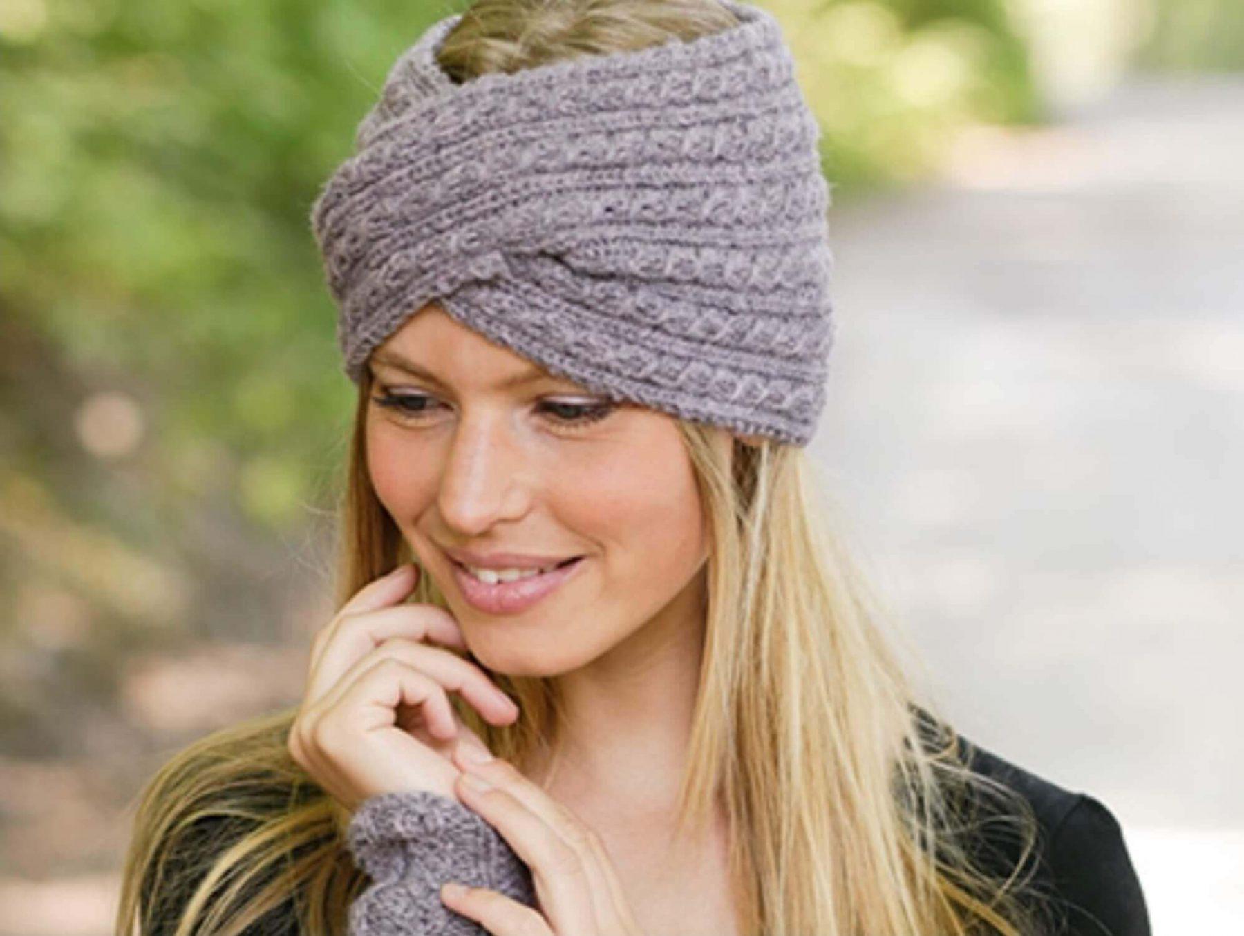 вязание повязок на голову крючком для девочек схемы Prakard