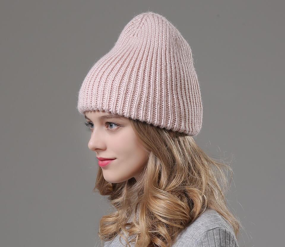 шапка бини двойная спицами схема вязания
