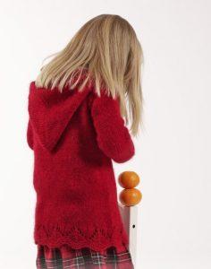 Восхитительные кофты спицами для девочек