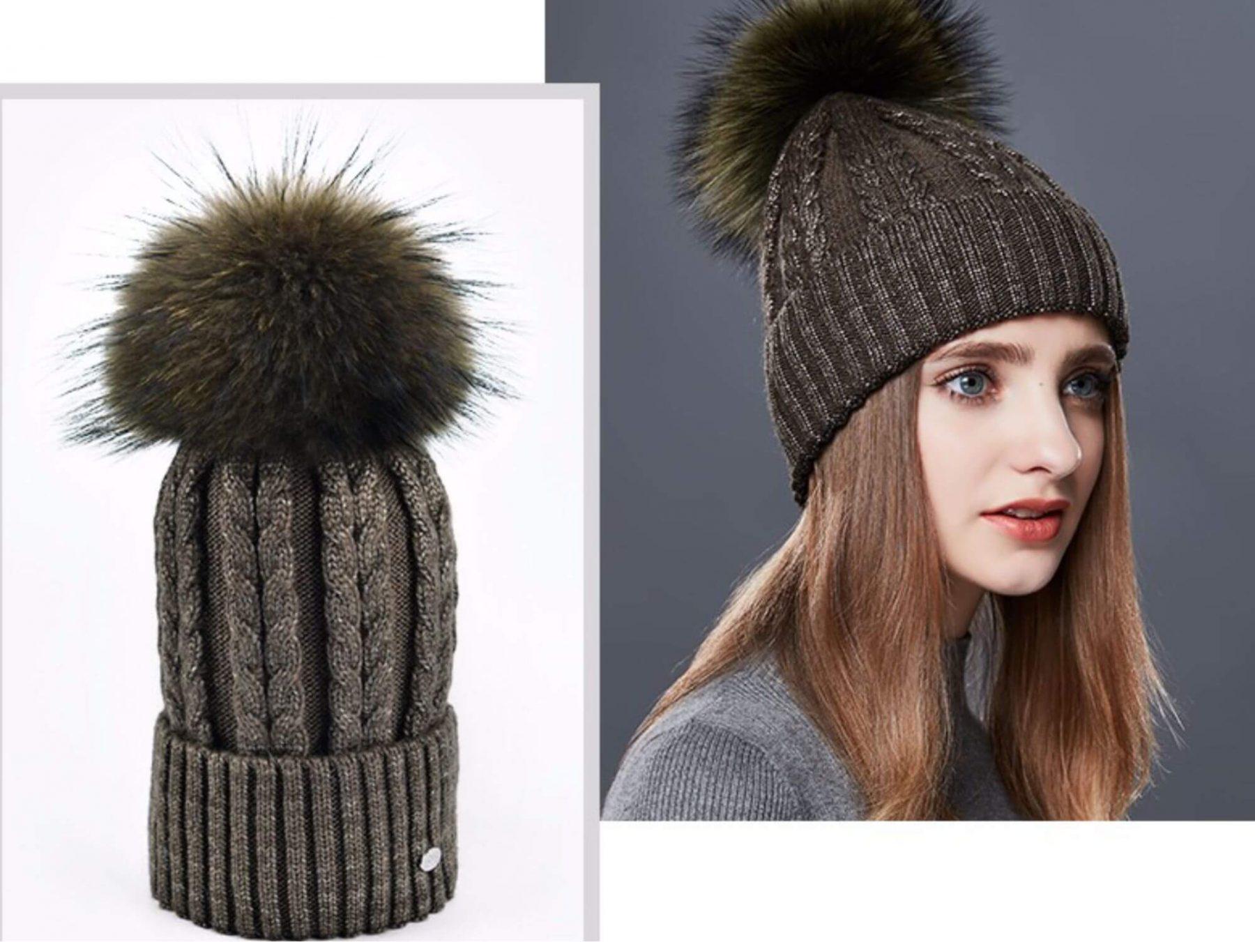 шапка бини с косами спицами схема вязания