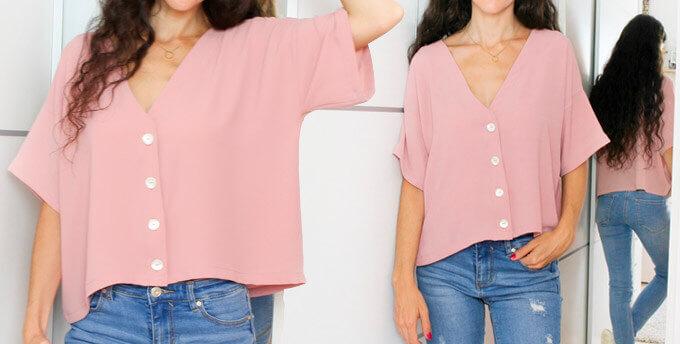 Сшить блузку своими руками без выкройки быстро из шифона фото 41