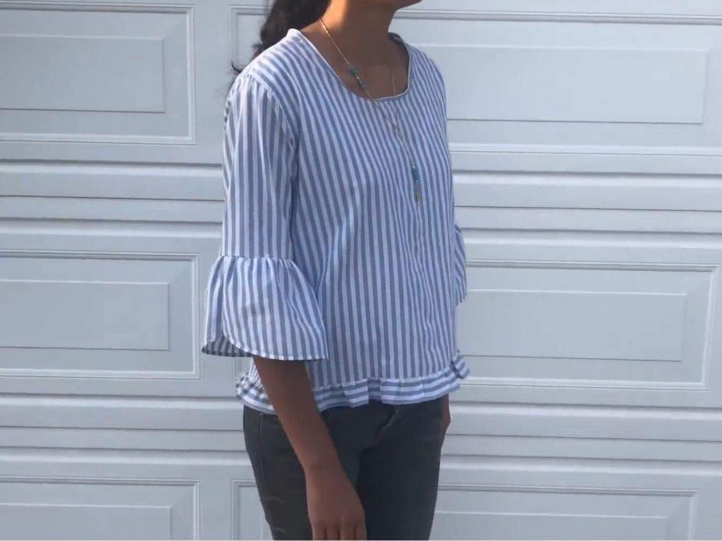 Красивая блузка из мужской рубашки