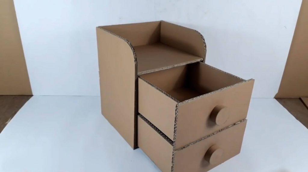 Комод из картона среднего размера - мк