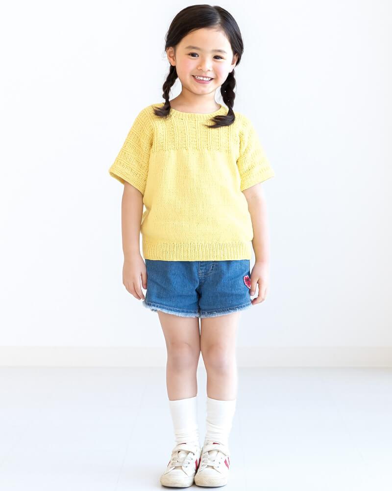 Футболка для девочки спицами - бесплатные переводы японских журналов