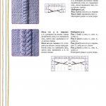 Варианты узоров для верха варежек
