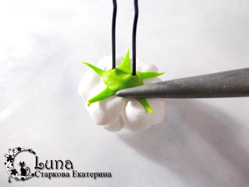 Мастер-класс - шпильки Весенний цветок