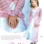 Кофта для девочки крючком - ах, эти розовые мечты!