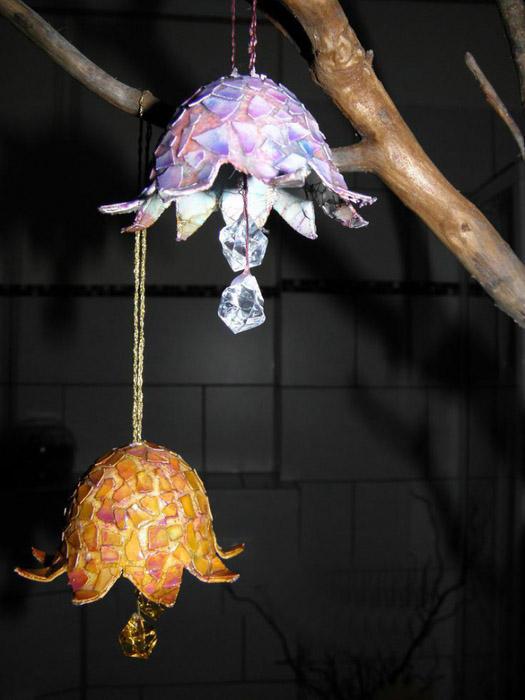 Колокольчики из яичной скорлупы