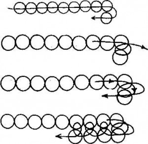 Техника полотно (фенечки с именами)