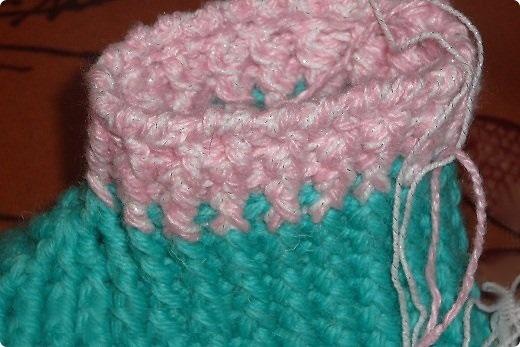 Тапочки на вязаной подошве
