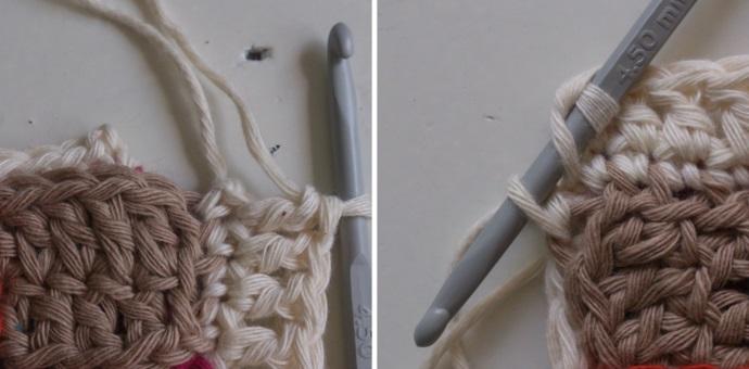 Как связать чехол на табурет