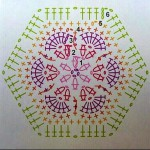 схема африканского цветка