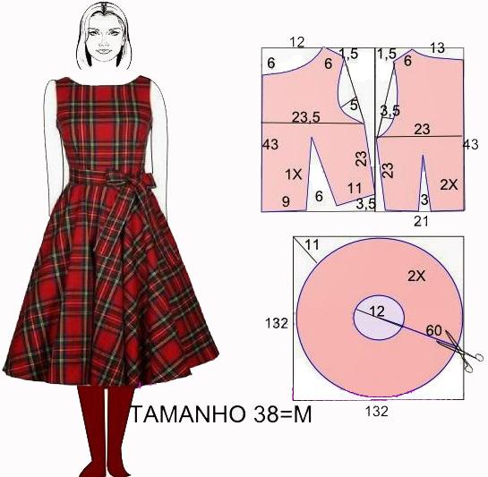 Выкройка платья 44 размера