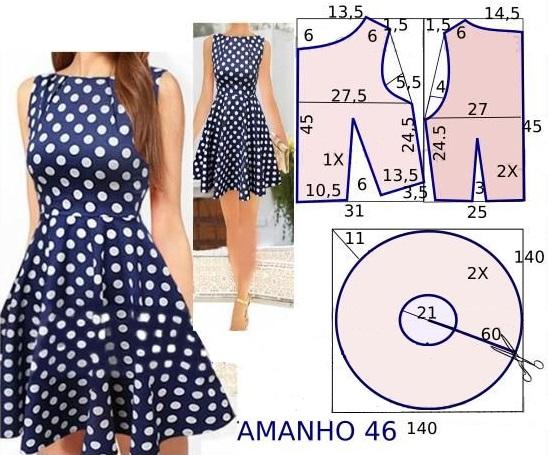 Выкройка платья 52 размера