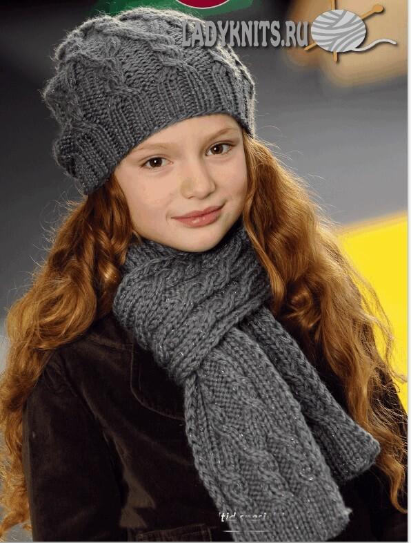 Стильная шапка и шарф