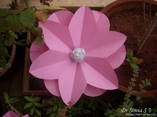 Красивые цветы из бумаги - мастер-класс