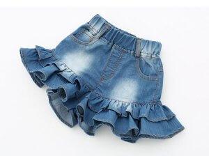 Варианты детских юбок из денима