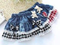 Модные детские юбки из старых джинс - выкройки и описание