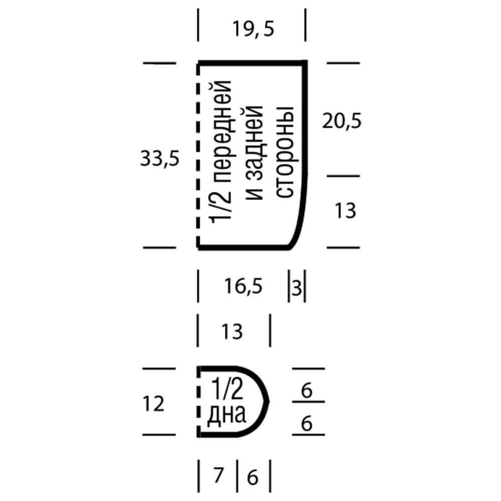 Стильная сумка для пляжа крючком - схема и описание