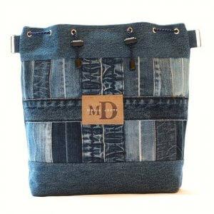 Рюкзак-торба из старых джинс мк