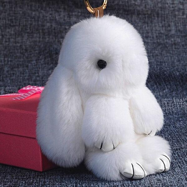 Брелок кролик из меха - мастер класс