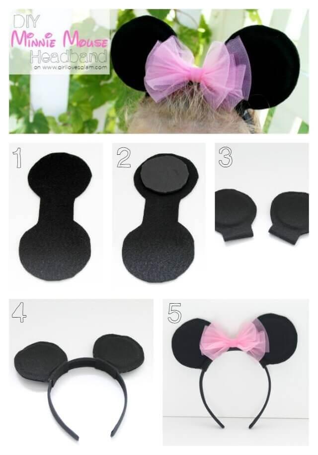 Ободок с ушками мышки