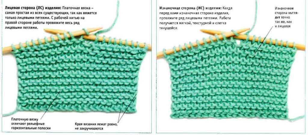 Шапка бини поперечным вязанием