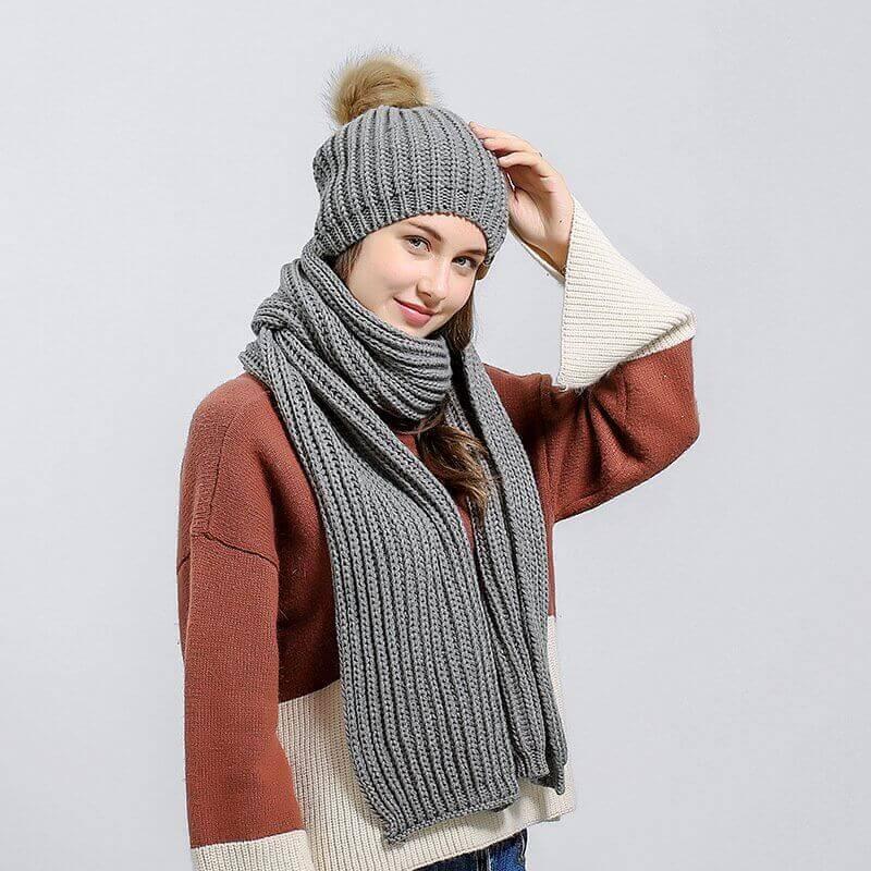 Вязание шапок английской резинкой спицами с отворотом