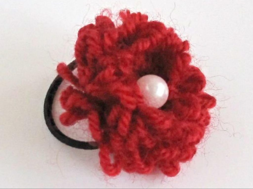 Розочка для волос крючком