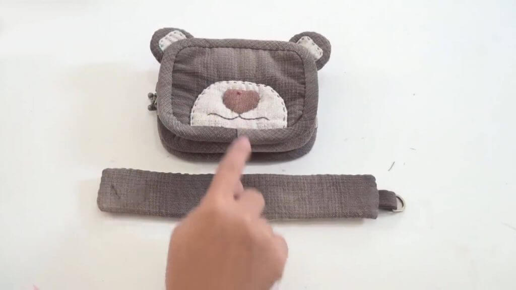 Косметичка пэчворк Мишка
