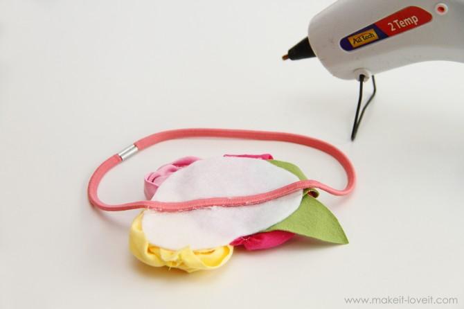 Повязка на голову для девочки - мастер-класс и трафареты