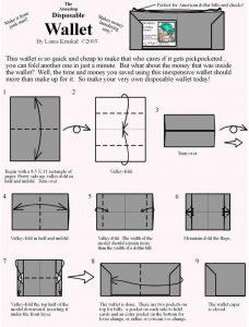 Схемы - как складывать кошелёк-оригами