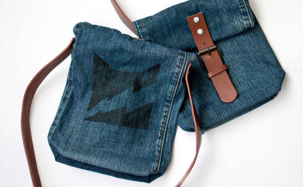 Быстро и просто! Сумочка из джинсов своими руками для девочки