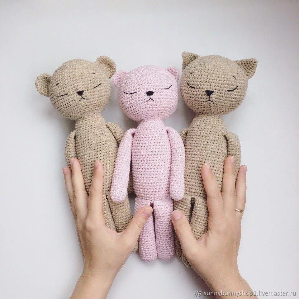 Игрушки-сплюшки: Кот, Заяц, и Медведь