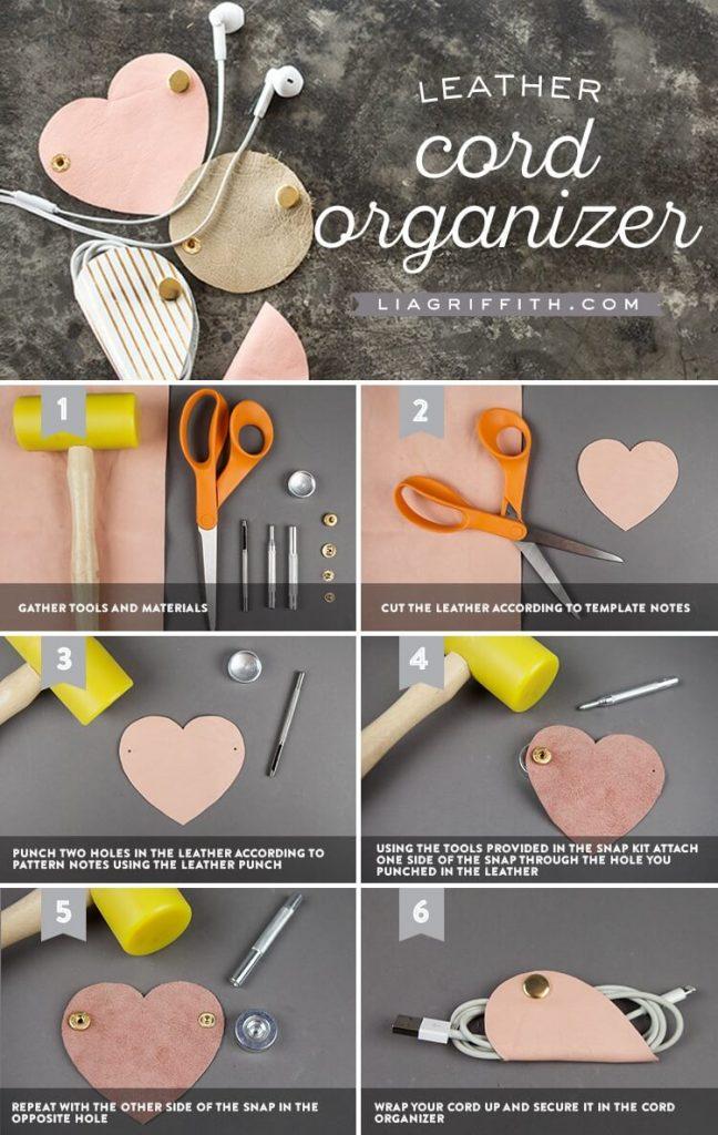 Как сделать органайзер для наушников из подручных материалов